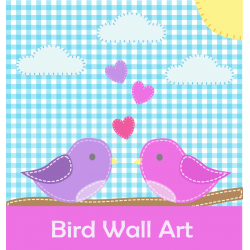 Cute Cut and Paste Bird Wall Art Picture Paper Craft Activity