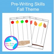 Pre-Writing Pencil Drawing Skills Fine Motor Fall Theme