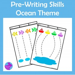 Pre-Writing Pencil Drawing Skills Fine Motor Ocean Theme