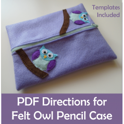 Owl Pencil Case Felt Sewing Craft activity