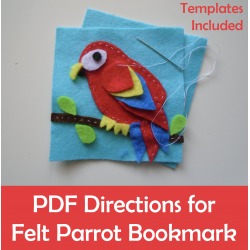Felt Parrot Bookmark Sewing Craft activity
