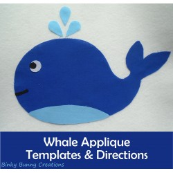 Whale Applique Templates Sewing Craft