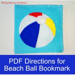 Summer Sewing Craft Project Felt Beach Ball Bookmark