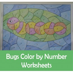 Bugs Insects Color By Number Differentiated Codes