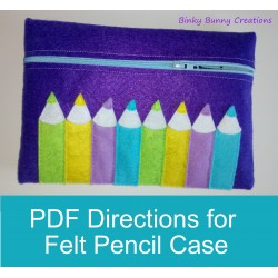 Back to School Pencil Case Felt Sewing Craft activity