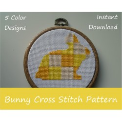 Bunny Rabbit Cross Stitch Sewing Craft