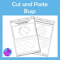 Cut and Paste Bugs Fine Motor Skills Activity