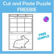 FREE Cut Paste Bunny Rabbit Puzzle Fine Motor Scissor Skills Activity