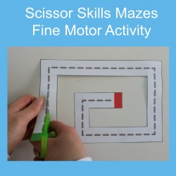 Scissor Skills Mazes Fine Motor Cutting Activity