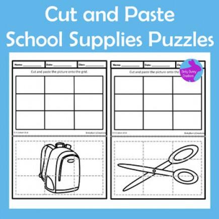 Cut Paste Back to School Supplies Scissor Skills Fine Motor OT