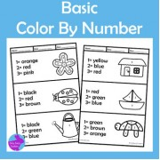 Simple Color By Number Fine Motor Skills Activity