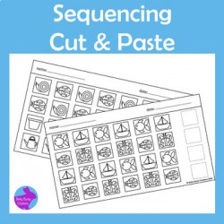 Pattern Sequence Cut & Paste Fine Motor Skills Activity