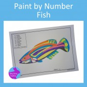 Paint By Number Fish Fine Motor Skills Art and Crafts Activity