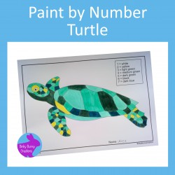 Paint By Number Turtle Fine Motor Skills Art and Crafts Activity