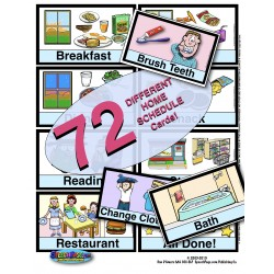 INDIVIDUAL HOME THEME Picture Schedule 72 Cards! With Usage Ideas & 10 Display Page Options!