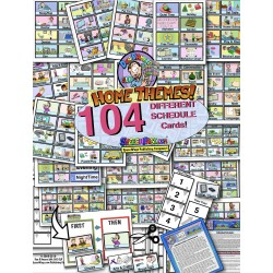 INDIVIDUAL HOME Picture Schedule 104 Cards! W/ Ideas & 20 Display Page Options!