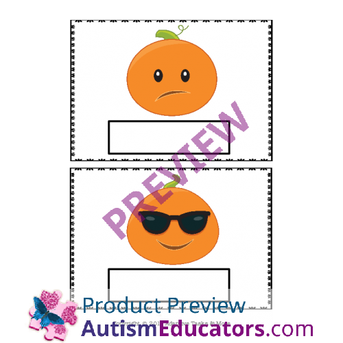 Pumpkin Emotion Binder Matching and Worksheets