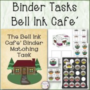 Binder Matching and Stocking Tasks Bell Ink Cafe'