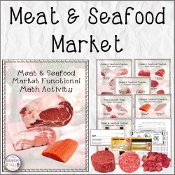 Meat and Seafood Market Functional Math Activity