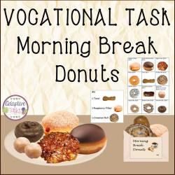 Vocational Task Morning Break Donuts