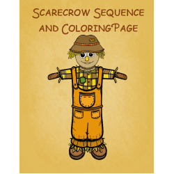 Scarecrow Sequencing and Coloring Page