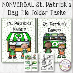 NONVERBAL St. Patrick's Day File Folder Tasks