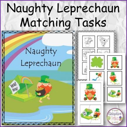 Naughty Leprechaun Matching Tasks