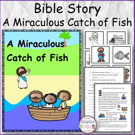 Bible Story A Miraculous Catch of Fish