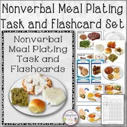 Nonverbal Meal Plating Task and Flashcard Set