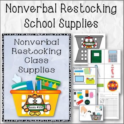 Nonverbal Restocking School Supplies