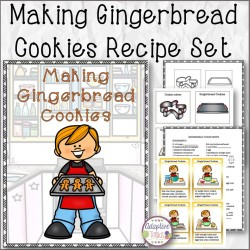 Making Gingerbread Cookies Recipe Set