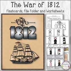 The War of 1812 Flashcards, Matching and Worksheets