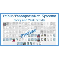 Public Transportation Systems Stories and Tasks Bundle