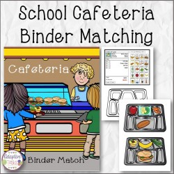 School Cafeteria Binder Matching Task