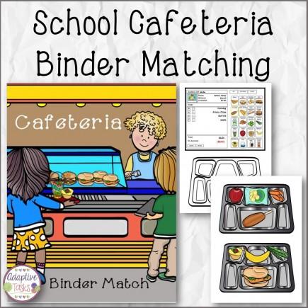 School Cafeteria Binder Matching Task