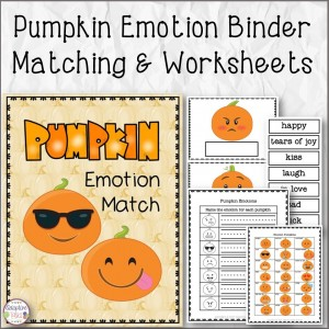 Pumpkin Emotion Binder Matching and Worksheets
