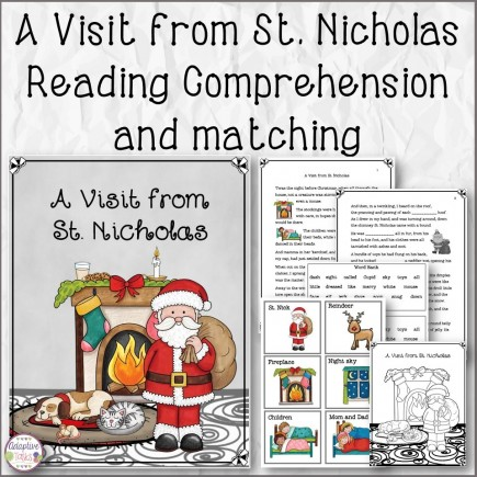 A Visit from St. Nicholas Reading Comprehension and Matching