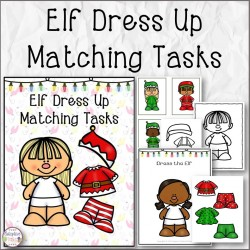 Elf Dress Up Matching Tasks