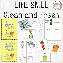 LIFE SKILL - Clean and Fresh Verbal and Nonverbal Binder Tasks