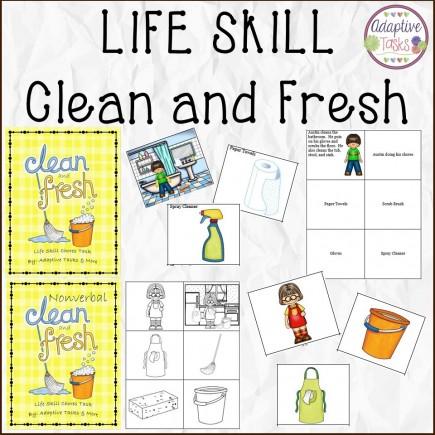 LIFE SKILL - Clean and Fresh Verbal and Nonverbal Binder Tasks