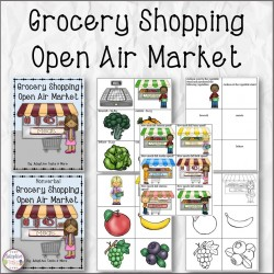 Grocery Shopping Open Air Market Binder Tasks