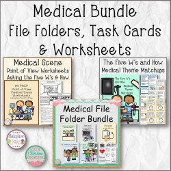 Medical Bundle File Folders, Task Cards and Worksheets