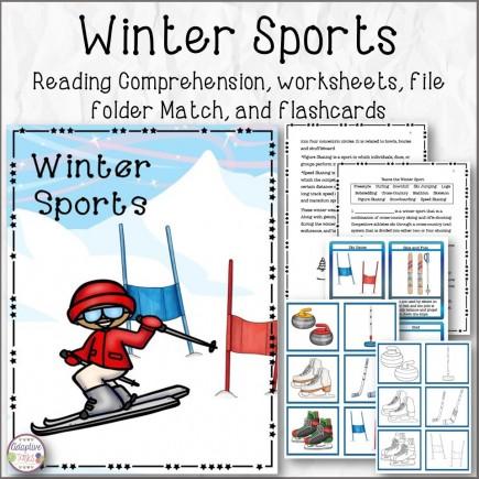 Winter Sports Reading Comprehension Bundle