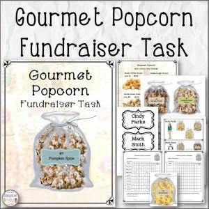 Gourmet Popcorn Fundraiser Task
