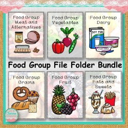 Food Group File Folder Bundle
