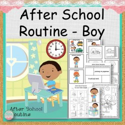 Boy After School Routine