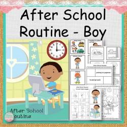 Boy After School Routine