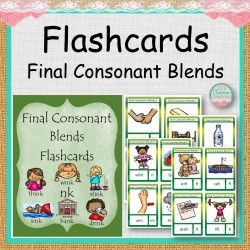 Flashcards Final Consonant Blends