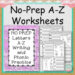 No Prep A-Z Writing and Phonic Practice Worksheets