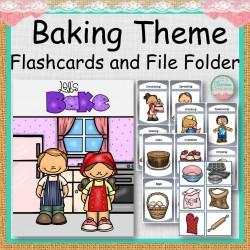 Baking Theme Flashcards and File Folder